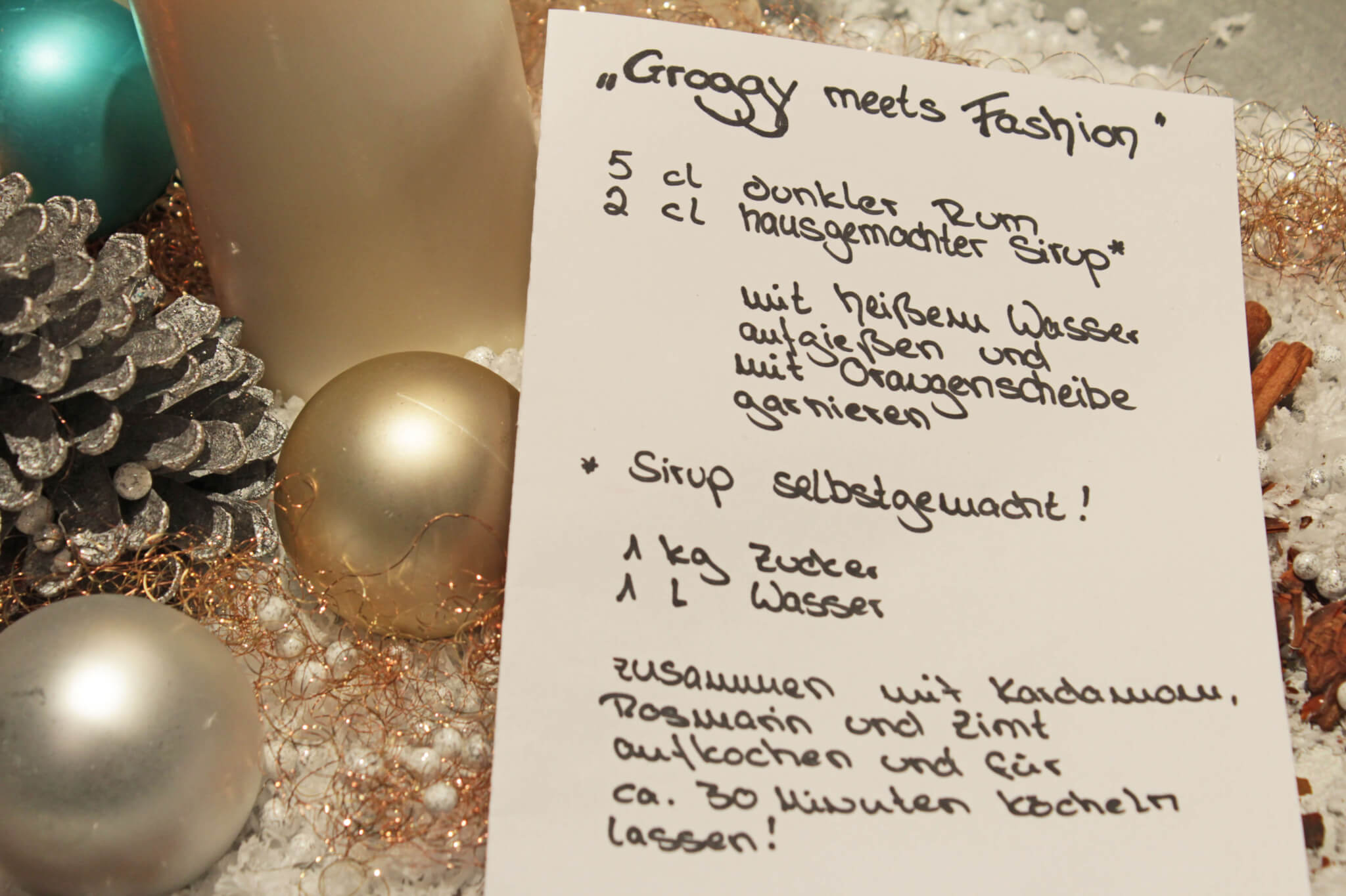 Groogy meets fashion Rezept Weihnachtsdeko