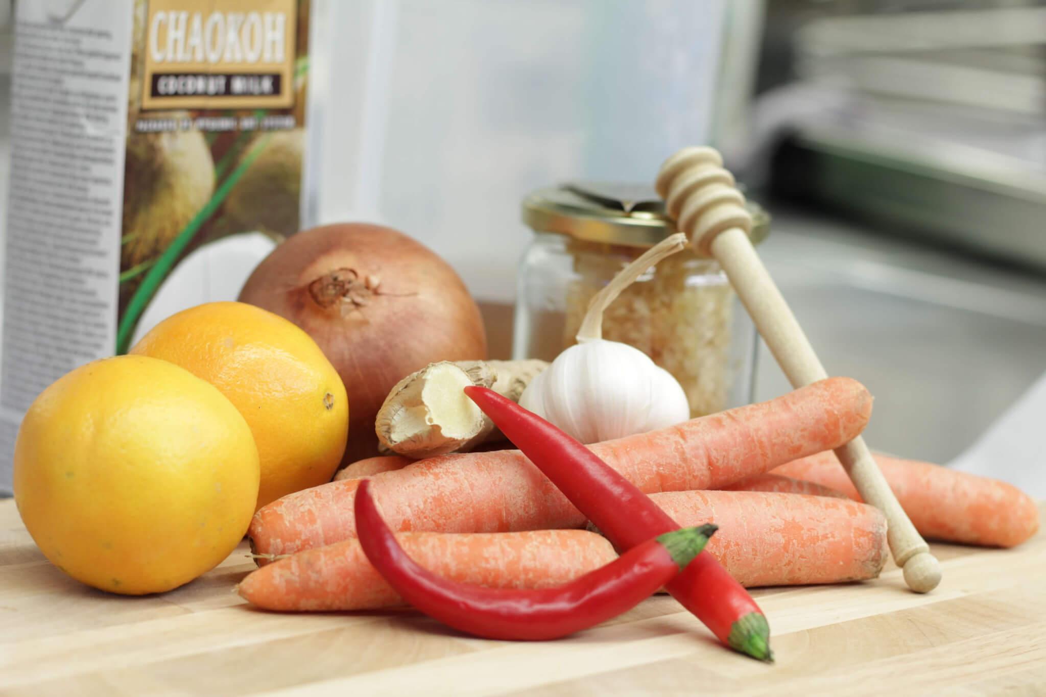 Zutaten Karotten-Ingwersuppe